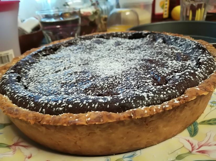 Tarta czekoladowo – gruszkowa:)